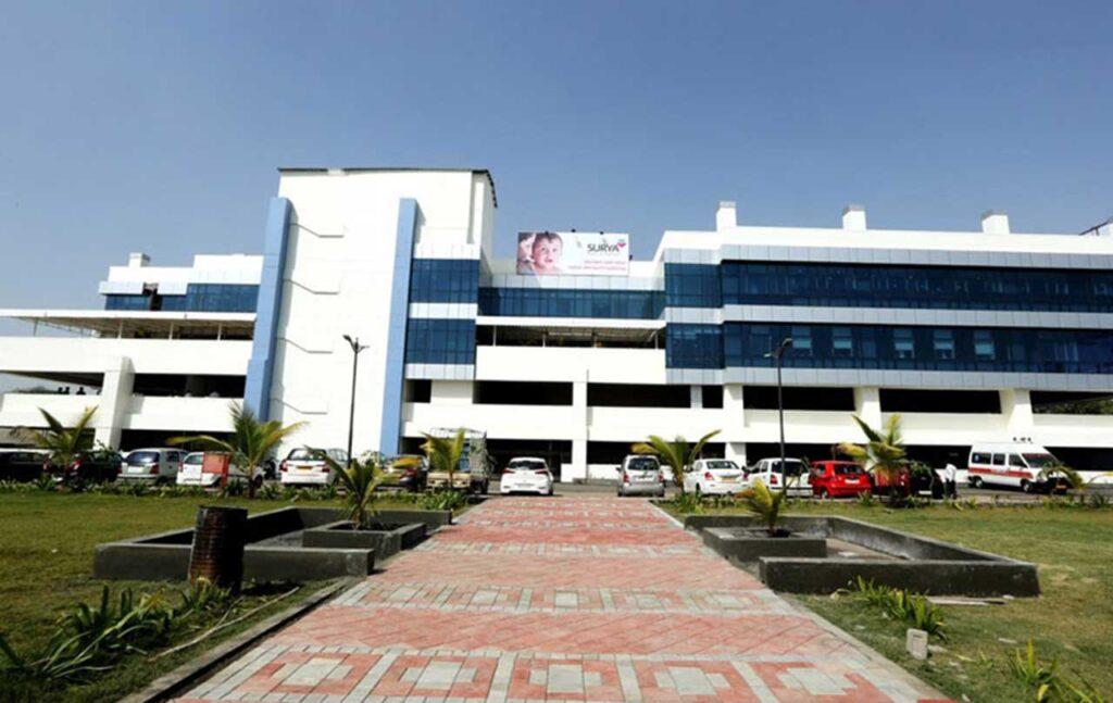 location of surya hospital pune