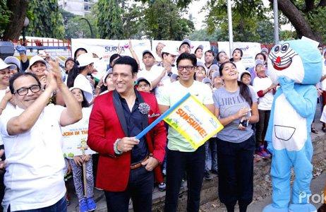 Govinda and Shaan came forward to support Surya Child Care Hospital's Sunshine Walkathon